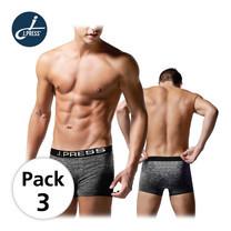 J Press กางเกงชั้นในชายขาสั้น seamless No.8215 3ตัว/เซ็ต - สีดำ