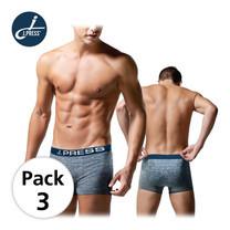 J Press กางเกงชั้นในชายขาสั้น seamless No.8215 3ตัว/เซ็ต - สีน้ำเงิน