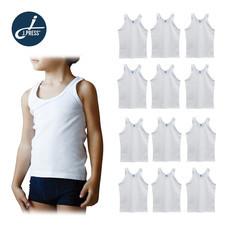 J.Press เสื้อกล้ามเด็กชาย เจ.เพรส No.3901 จำนวน 12 ตัว/เซ็ต - สีขาว