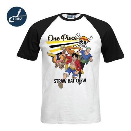 J.Press เสื้อยืดวันพีช ลิขสิทธิ์ One Piece คอกลมไหล่สโลป พิมพ์ลาย จำนวน 1 ตัว/แพ็ก (มีให้เลือก 3 ลาย)