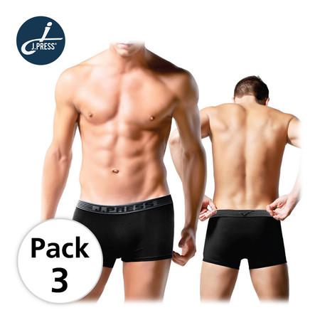 J Press กางเกงชั้นในชายขาสั้น seamless No.8214 3ตัว/เซ็ต - สีดำ