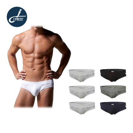 J Press กางเกงชั้นในชาย No.4101AW 6ตัว/เซ็ต - คละสี (ขาว/ดำ/เทา/กรมท่า)