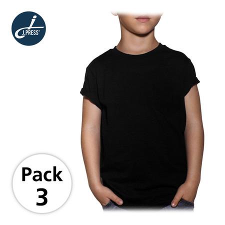 J Press เสื้อยืดคอกลมแขนสั้นเด็กผู้ชาย รุ่น T222B 3ตัว/เซ็ต - สีดำ
