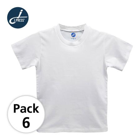 J Press เสื้อยืดคอกลมเด็กชาย เจเพรส No.T222 6ตัว/กล่อง - สีขาว