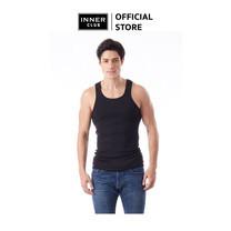 Inner Club เสื้อกล้ามชาย สีดำ ผ้าคอตตอน 100%