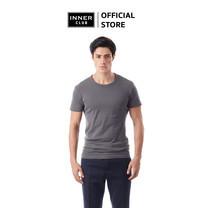 Inner Club เสื้อยืดคอกลม ผู้ชาย สีเทา คอตตอน100%