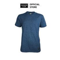Inner Club เสื้อยืดคอกลมชาย รุ่น TOP-DYED แขนสั้น สีกรมท่า