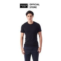 Inner Club เสื้อยืดคอกลม ผู้ชาย สีดำ คอตตอน100%