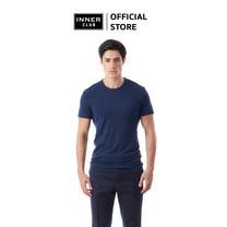 Inner Club เสื้อยืดคอกลม ผู้ชาย สีกรมท่า คอตตอน100%