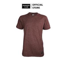 Inner Club เสื้อยืดคอกลมชาย รุ่น TOP-DYED แขนสั้น สีเลือดหมู