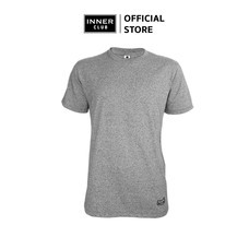Inner Club เสื้อยืดคอกลมชาย รุ่น TOP-DYED แขนสั้น สีเทา
