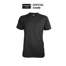 Inner Club เสื้อยืดคอกลมชาย รุ่น TOP-DYED แขนสั้น สีดำ