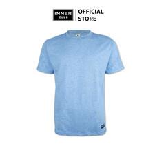 Inner Club เสื้อยืดคอกลมชาย รุ่น TOP-DYED แขนสั้น สีฟ้า