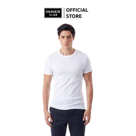 Inner Club เสื้อยืดคอกลม ผู้ชาย สีขาว คอตตอน100%
