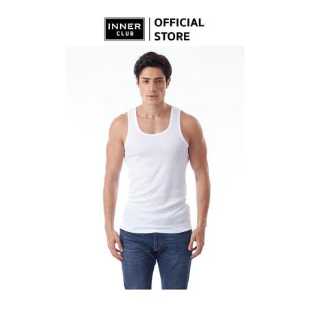 Inner Club เสื้อกล้ามชาย สีขาว ผ้าคอตตอน 100%
