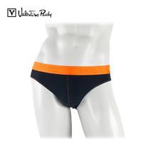 Valentino Rudy กางเกงในทรง Bikini รุ่น VB2-N211 19 - สีดำขอบยางทอสีส้ม (1 ตัว)