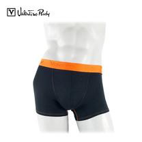 Valentino Rudy กางเกง BOXER รุ่น VI2-N211-19 - สีดำขอบยางทอสีส้ม (1 ตัว)