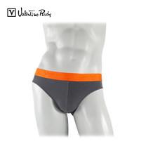 Valentino Rudy กางเกงในทรง Bikini  รุ่น VB2-N211 15 - สีเทาขอบยางทอสีส้ม (1 ตัว)