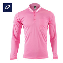 EGO SPORT EG6153 เสื้อโปโลแขนยาว สีชมพู