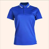 EGO SPORT EG6168 เสื้อโปโลหญิงเบสิคแขนสั้น สีน้ำเงิน 99.95% Anti-Bacteria
