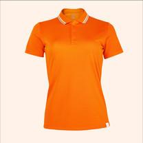 EGO SPORT EG6168 เสื้อโปโลหญิงเบสิคแขนสั้น สีส้มแสด 99.95% Anti-Bacteria