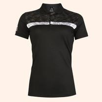EGO SPORT EG6172 เสื้อโปโลชายแขนสั้นหญิง สีดำ
