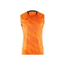 EGO SPORT EG5125 เสื้อฟุตบอลทอลายคอกลมแขนกุด สีส้มแสด