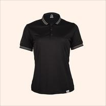 EGO SPORT EG6164 เสื้อโปโลแขนสั้นหญิง สีดำ