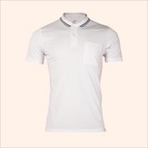 EGO SPORT EG6167 เสื้อโปโลชายเบสิคแขนสั้น สีขาว