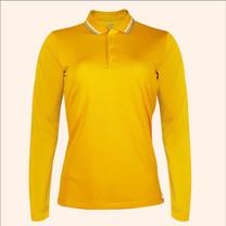 EGO SPORT EG6170 เสื้อโปโลหญิงเบสิคแขนยาวสีเหลืองทอง(99.95% Anti-Bacteria)