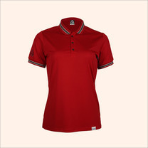 EGO SPORT EG6164 เสื้อโปโลแขนสั้นหญิง สีแดงแทงโก้