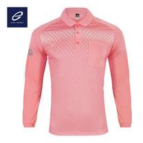 EGO SPORT EG6161 เสื้อโปโลพิมพ์ลายแขนยาว สีชมพูแคนดี้