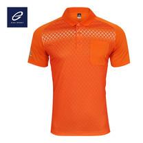 EGO SPORT EG6159 เสื้อโปโลพิมพ์ลายแขนสั้นชาย สีส้มแสด