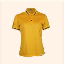 EGO SPORT EG6164 เสื้อโปโลแขนสั้นหญิง สีเหลืองทอง