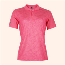 EGO SPORT EG6178เสื้อโปโลพิมพ์ลายแขนสั้นหญิง สีชมพูเข้ม