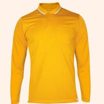 EGO SPORT EG6169 เสื้อโปโลชายเบสิคแขนยาวสีเหลืองทอง(99.95% Anti-Bacteria)