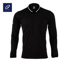 EGO SPORT EG6153 เสื้อโปโลแขนยาว สีดำ