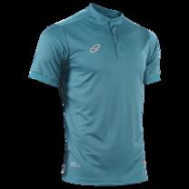 EGO PRIME PM214 : เสื้อโปโลแขนสั้น คอตั้ง สีเขียวมหาสมุทร