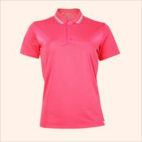 EGO SPORT EG6168 เสื้อโปโลหญิงเบสิคแขนสั้น สีชมพูเข้ม 99.95% Anti-Bacteria