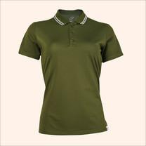 EGO SPORT EG6168 เสื้อโปโลหญิงเบสิคแขนสั้น สีเขียวการ์เด้น 99.95% Anti-Bacteria