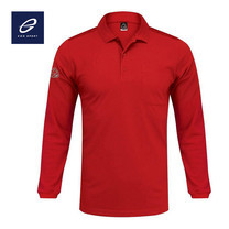 EGO SPORT EG6137 เสื้อโปโลชายแขนยาว สีแดง