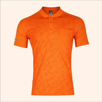 EGO SPORT EG6177เสื้อโปโลพิมพ์ลายแขนสั้นชาย สีส้มแสด