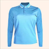 EGO SPORT EG6170 เสื้อโปโลหญิงเบสิคแขนยาวสีฟ้าเข้ม(99.95% Anti-Bacteria)