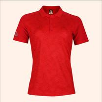 EGO SPORT EG6178เสื้อโปโลพิมพ์ลายแขนสั้นหญิง สีแดง