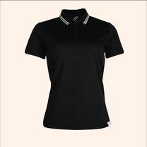 EGO SPORT EG6168 เสื้อโปโลหญิงเบสิคแขนสั้น สีดำ