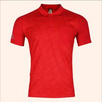 EGO SPORT EG6177เสื้อโปโลพิมพ์ลายแขนสั้นชาย สีแดง