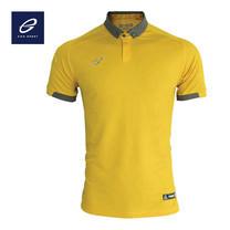 EGO PRIME PM212: เสื้อโปโลแขนสั้น ไหล่สโลป สีเหลืองทอง