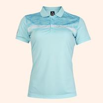 EGO SPORT EG6172 เสื้อโปโลหญิงแขนสั้น สีฟ้าแคริบเบียน