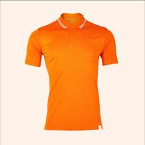 EGO SPORT EG6167 เสื้อโปโลชายเบสิคแขนสั้น สีส้มแสด 99.95% Anti-Bacteria