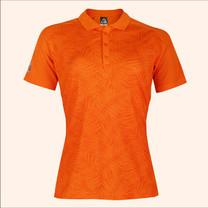 EGO SPORT EG6178เสื้อโปโลพิมพ์ลายแขนสั้นหญิง สีส้มแสด